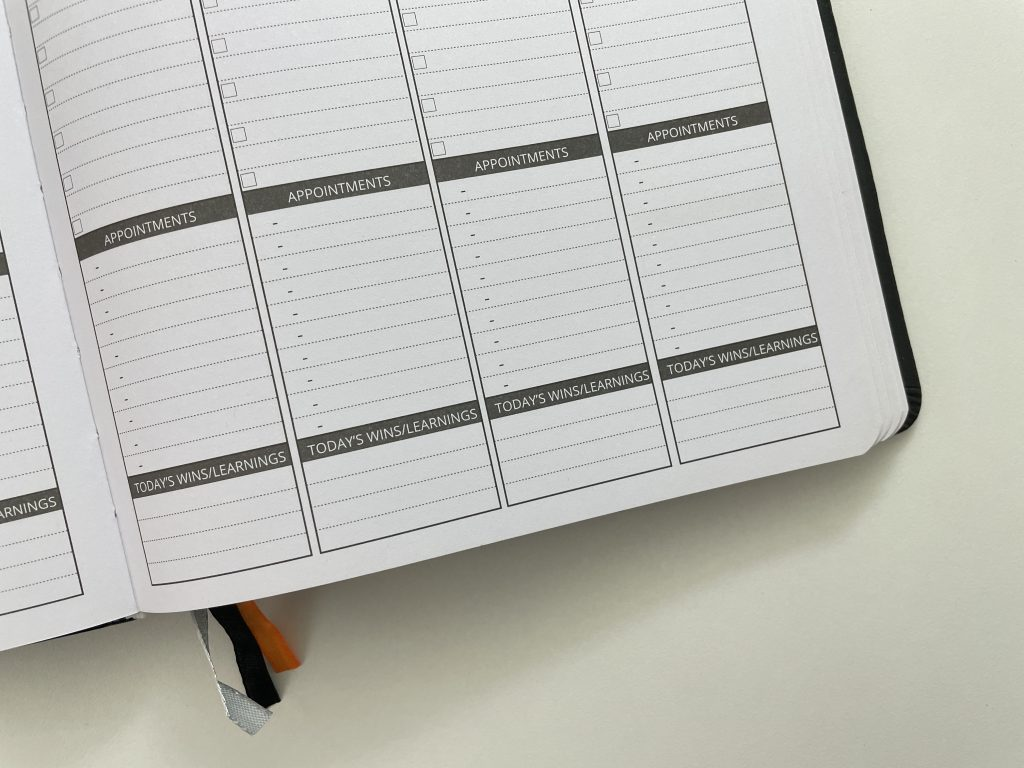ignited life planner weekly spread review vertical monday week start lined appointment tasks wins focus b5 page size gender neutral