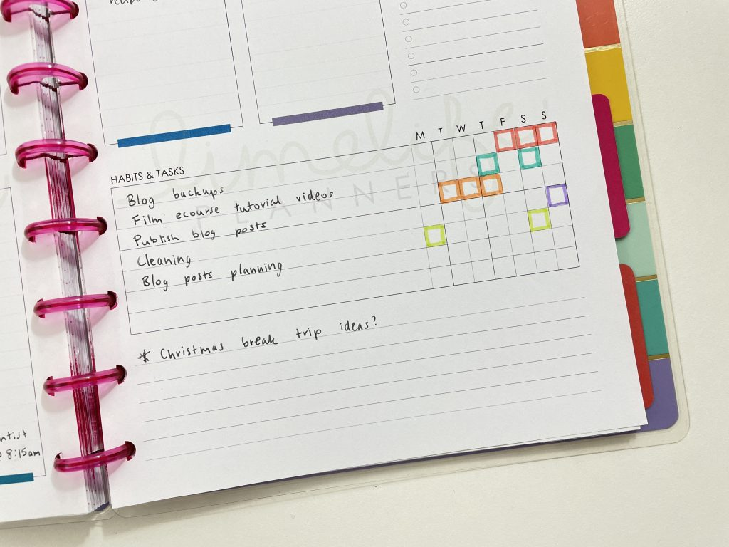 limelife planners weekly spread habit tracker how to resize printables for the happy planner tutorial
