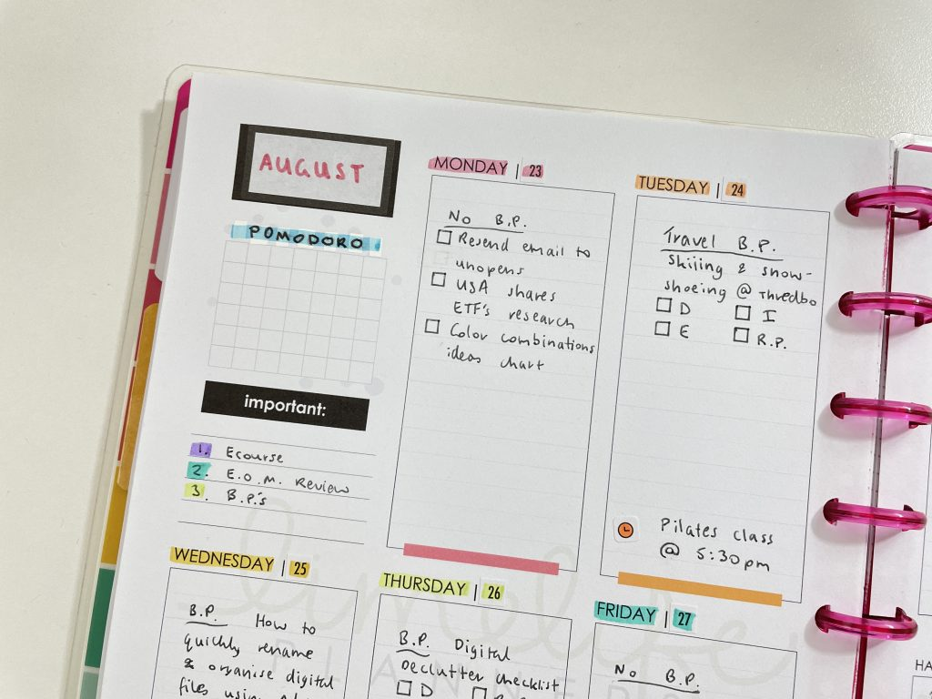 limelife planners weekly spread rainbow monday start free template resize printables for the happy planner happy notes