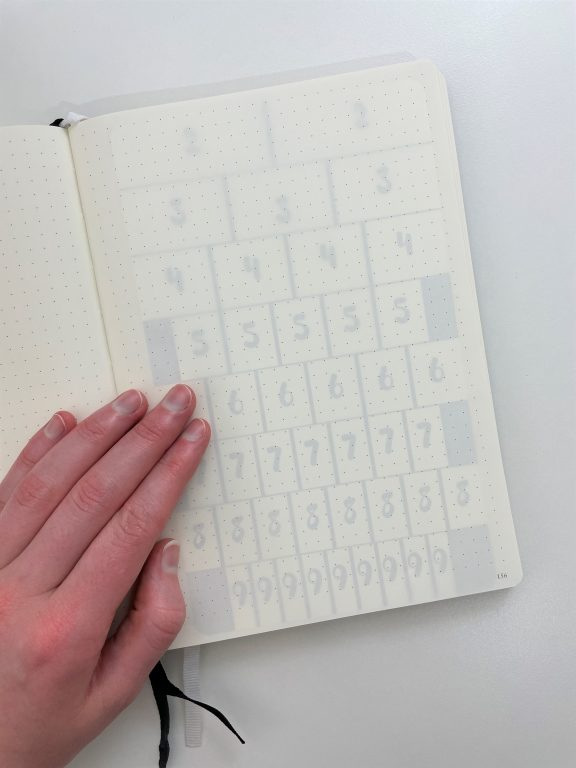 moxie dorie bullet journal stencil row and column spacing leuchtturm dot grid a5 best bujo tools quick easy newbies must have planner supplies