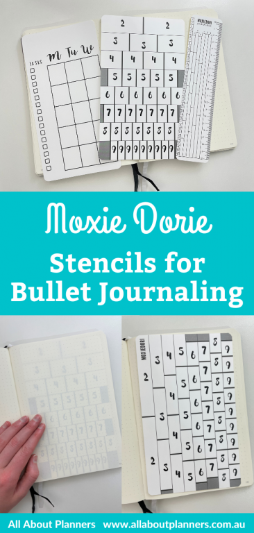 moxie dorie stencils for bullet journaling review pros and cons 5mm dot grid template for ruling up bujo spreads