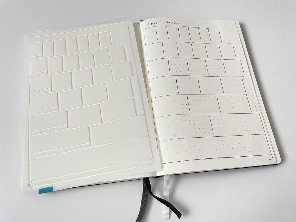 row and column stencil bullet journal zonon amazon bullet journal supplies bujo quickly make monthly calendar weekly spread