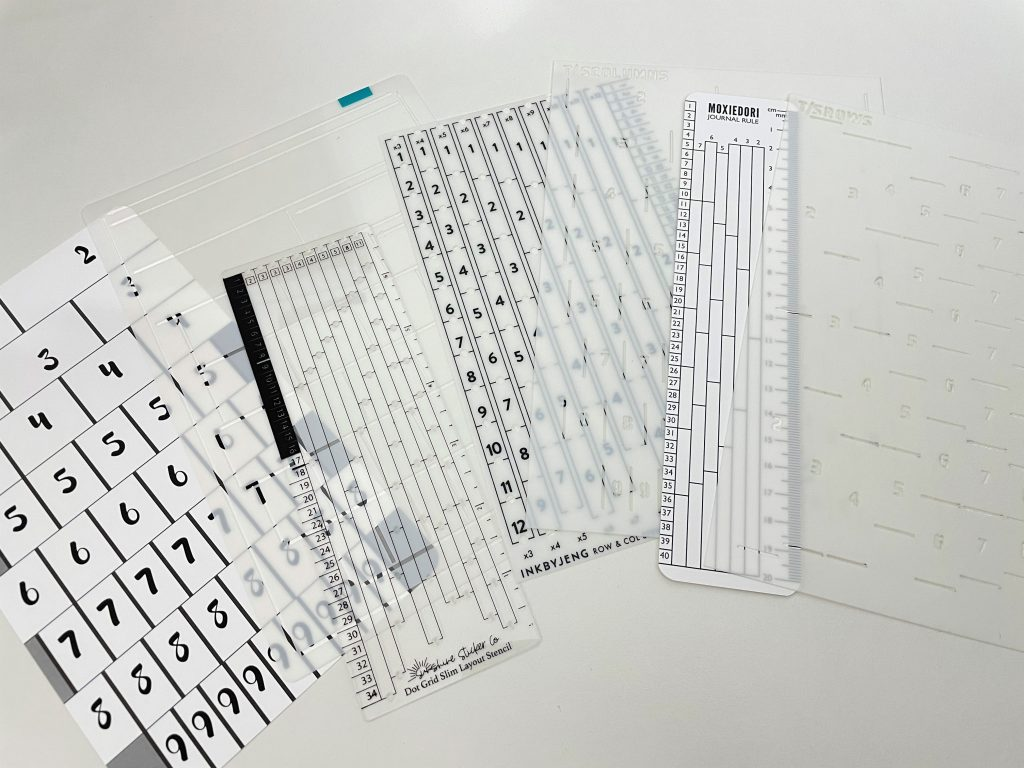 row and stencils bullet journal review pros and cons translucent tracing card monthly calendar spreads weekly how to efficiently draw bujo spreads