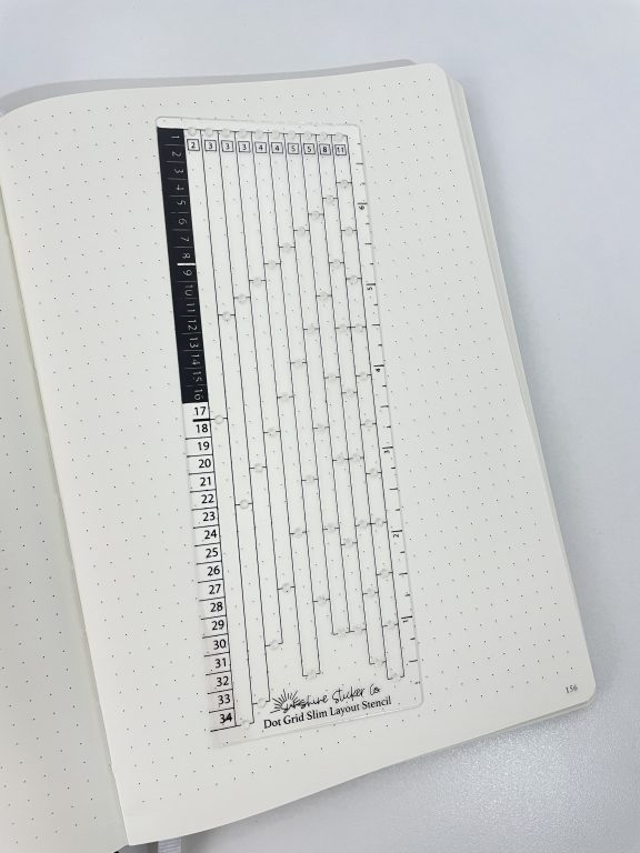 sunshine sticker co layout stencil rows and columns dot grid spacing counting tool for monthly calendars weekly spreads quick easy