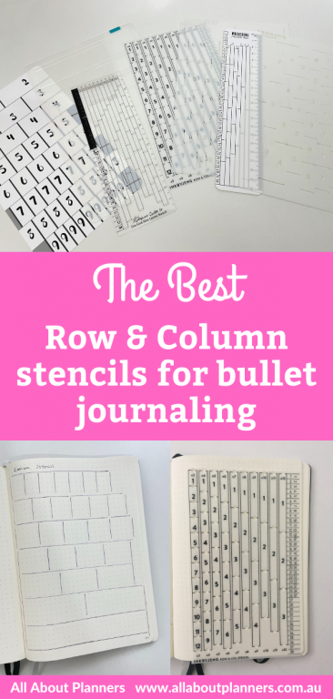 the best row and column stencils for bullet journaling dot grid ruler guide nifty bullet journal tools supplies useful functional saves time
