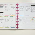 Weekly spread using Limelife Planners Layout D (free printable)