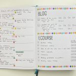 Weekly spread in the Wordsworth planner using dot markers & stencils