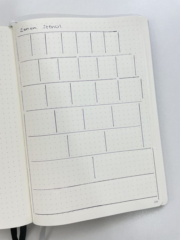 zonon row and column spacing stencil review bullet journaling tools resources best bujo tools newbies time saving efficient worth the money