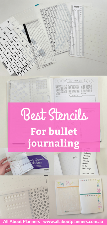 favorite stencils for bullet journal best bujo supplies for newbies row and column stencil helix circle maker review monthly calendar weekly spread daily planner-min