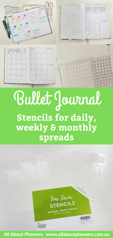favorite stencils for bullet journal best bujo supplies for newbies row and column stencil helix circle maker review monthly calendar weekly spread daily planner tips-min