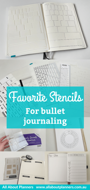 favorite stencils for bullet journaling must have planner supplies bujo planner newbie minimalist daily weekly and monthly spreads quick easy fast-min