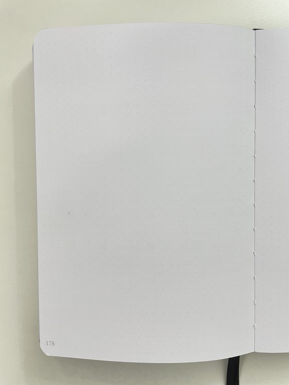 slow journal dot grid notebook review australian brand 160 gsm pen testing pens stamps highlighters brush pens-min